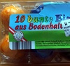 10 bunte Eier aus Bodenhaltung - Product