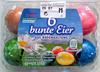 6 bunte Eier aus Bodenhaltung - Produkt