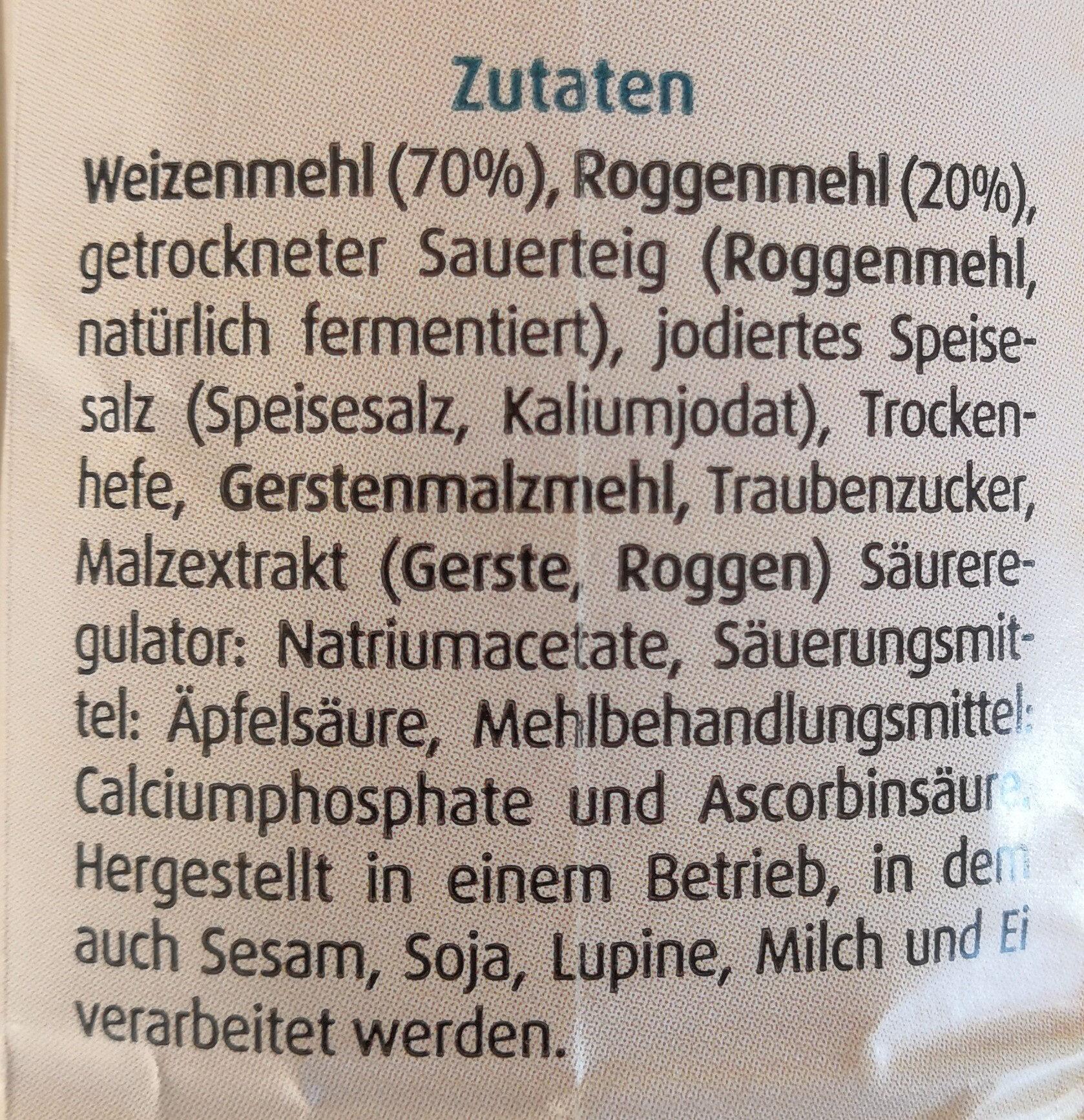 Bauernbrot Backmischung - Ingrédients - de