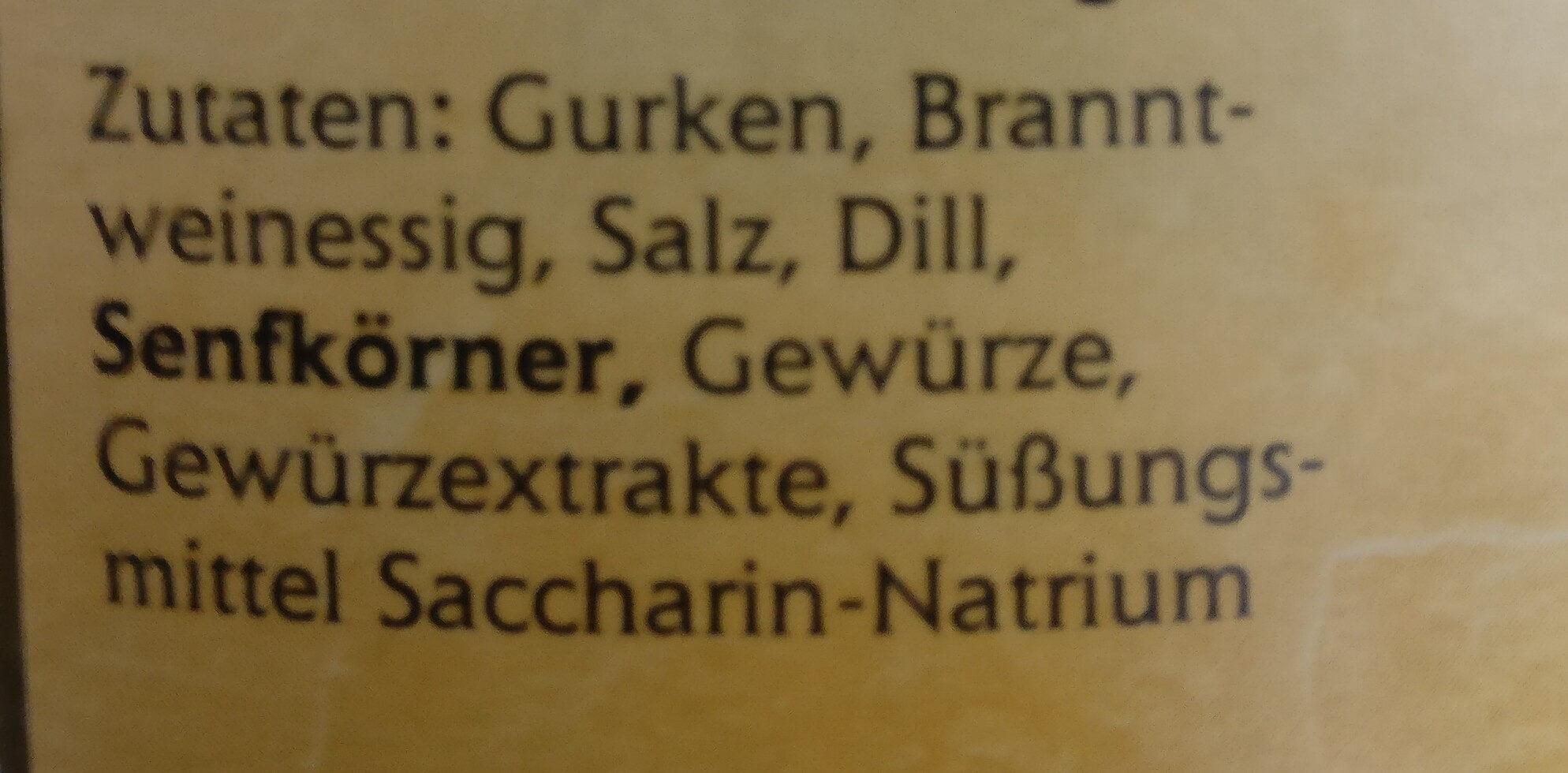Gewürzgurken - Ingredients - de