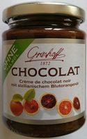 Crème de chocolat noir mit sizilianischem Blutorangenöl - Produkt