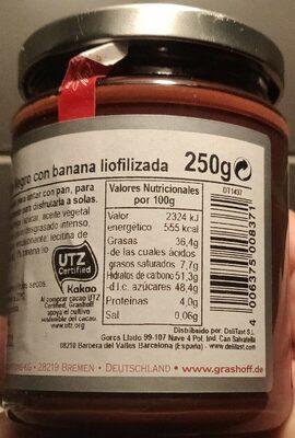 Chocolat - Valori nutrizionali - fr