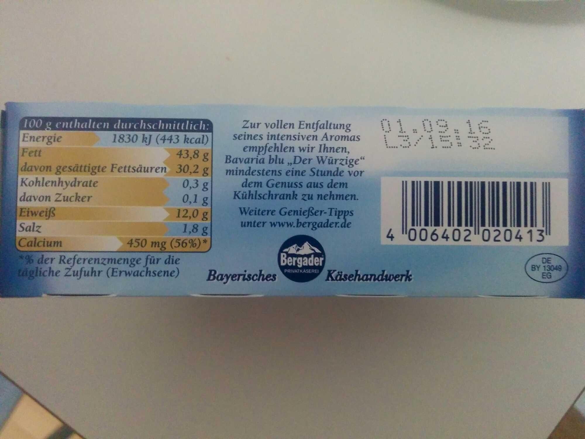 Bavaria blu Der Würzige - Product