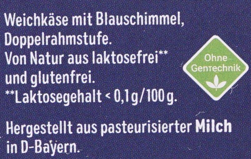 Bavaria blu Der Würzige - Ingrédients - de