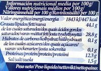 Bavaria blu - Informació nutricional - es