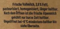Frische Alpenmilch - Ingredienti - de