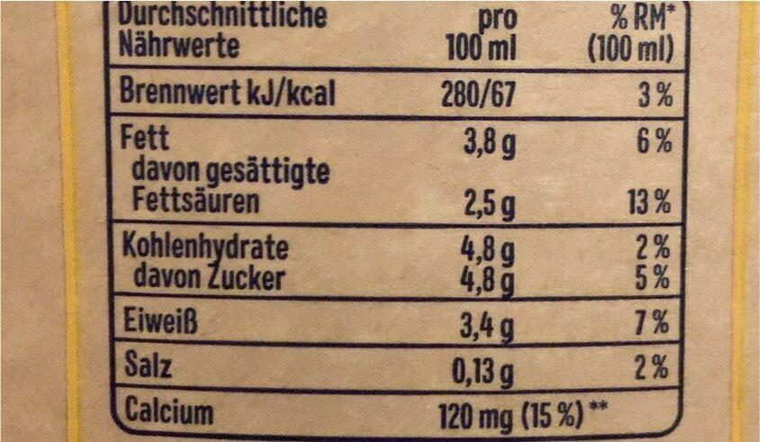 Frische Alpenmilch - Valori nutrizionali - de