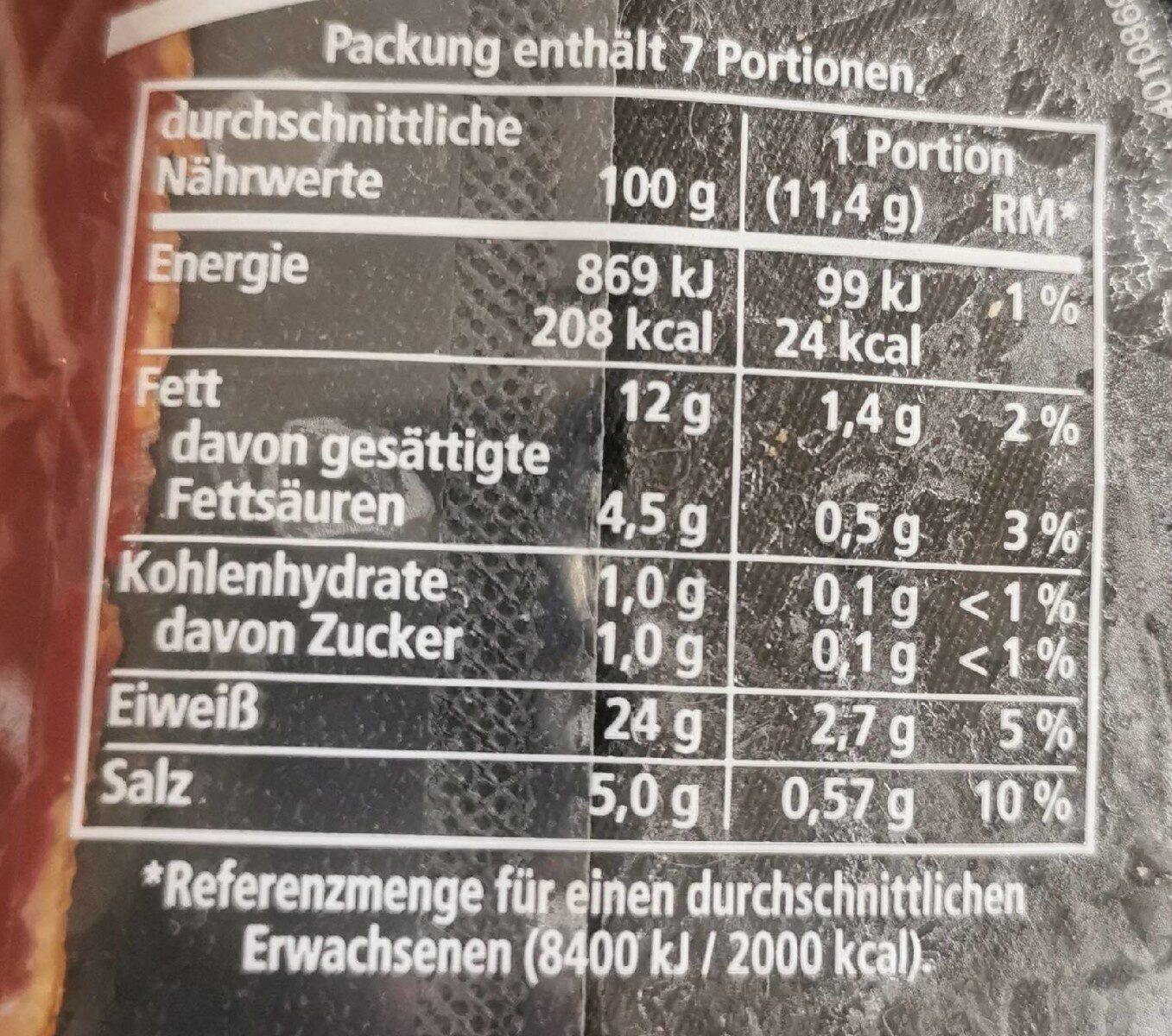 Landschinken mild geräuchert - Voedingswaarden - de