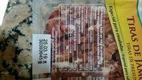 Tiras de jamon curado - Nutrition facts - es