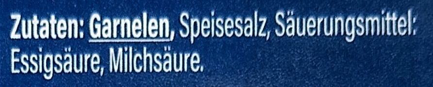 Eismeergarnelen - Zutaten - de