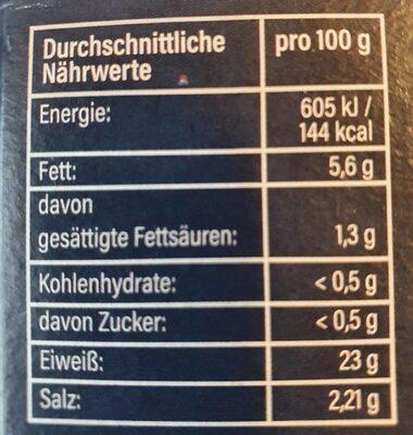 Forellen-Filets - Informations nutritionnelles - de