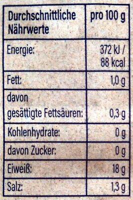 Bio Garnelen - Voedingswaarden - de