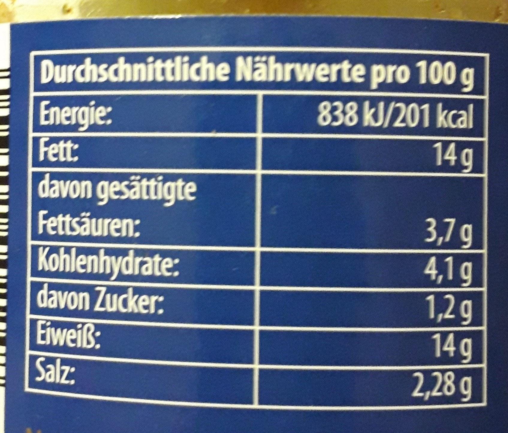 Bratheringsfilet - Informations nutritionnelles - de