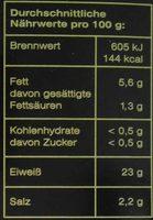 Forellenfilets - Informations nutritionnelles - de