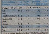Forellen Filets Natur - Nutrition facts - de