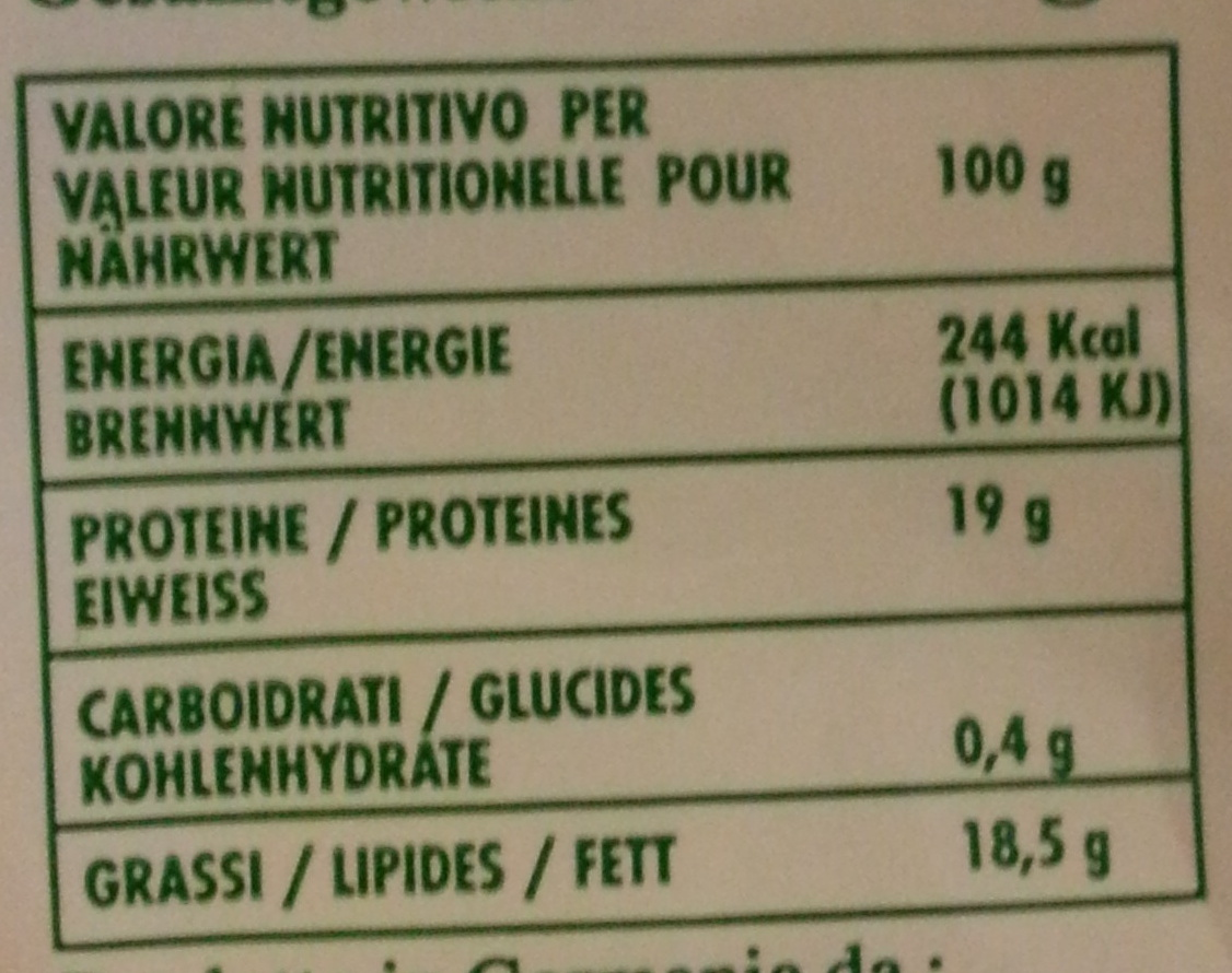 Mozzarella (18,5% MG) - 420 g - Monteverdi - Nutrition facts