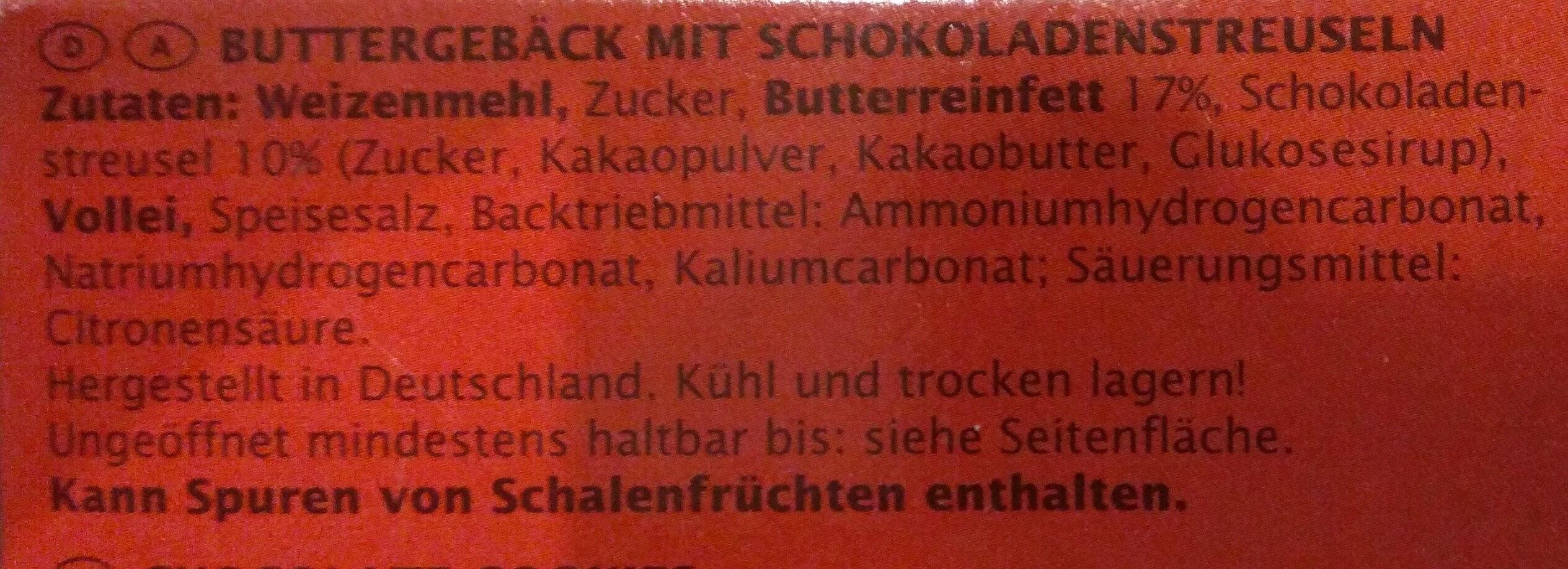 Schokotaler - Ingrédients
