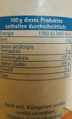 Puderzucker Mühle 0,25 KG Dose - Ingrédients