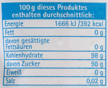 Gelierzucker 2plus1 - Nutrition facts - de