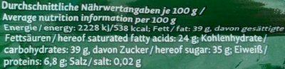 Peru 64% Edelbitter - Nutrition facts