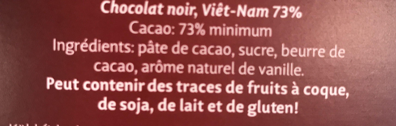Heilemann Confiserie 73% Vietnam Feinherb - Ingredients