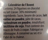 Calendrier de l'Avent - Ingredients