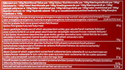 Adventskalender - Nutrition facts - de