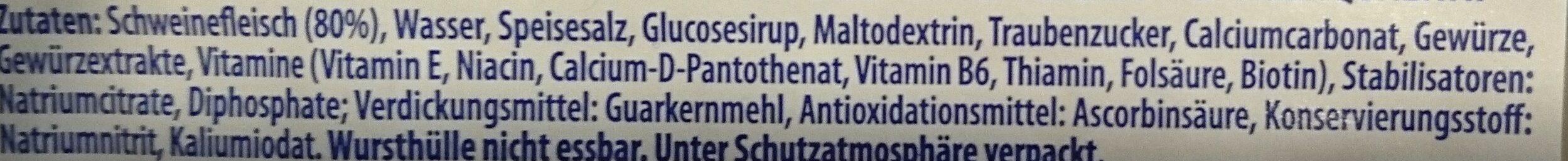 Mini Würstchen - Ingredienti - de