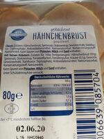 gebackenes Hähnchenbrust Duo - Ingredients - de