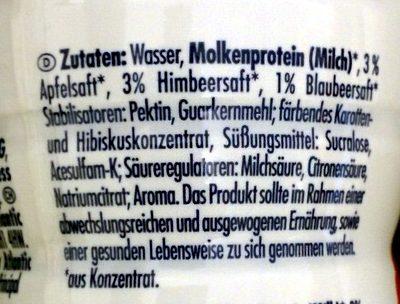 Protein Smoothie Raspberry Blueberry - Inhaltsstoffe