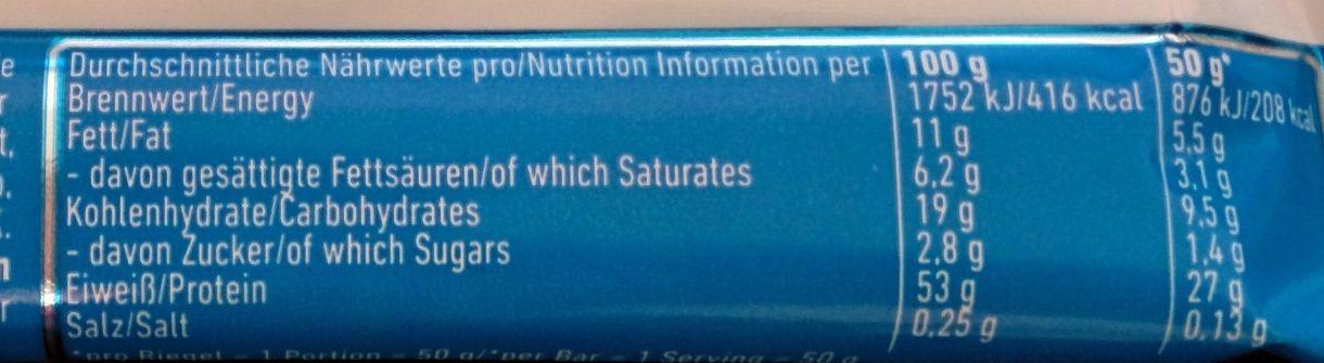 53% Protein Bar Cookies & Cream Flavour - Informations nutritionnelles - de