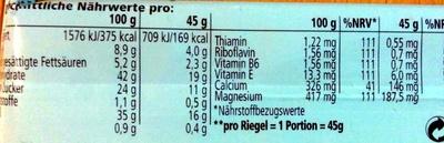 Muscle High Protein Bar 35% - Nährwertangaben - de