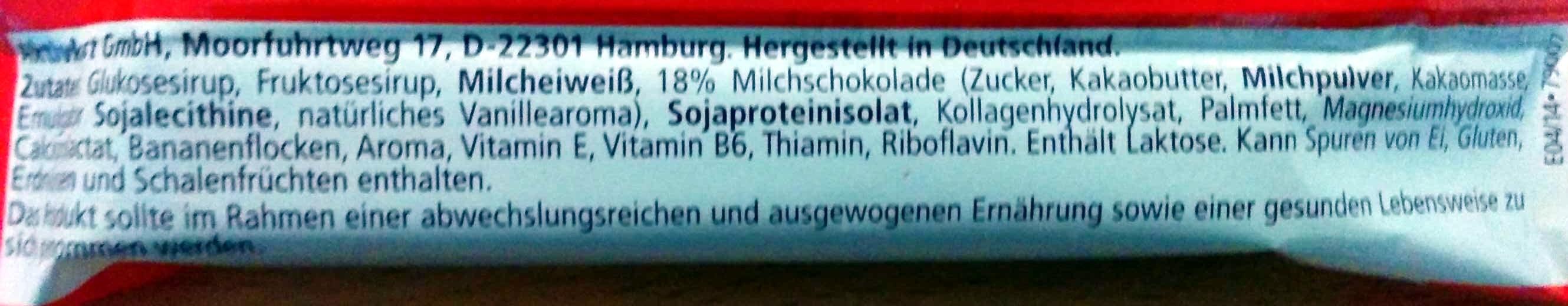 Muscle Protein Bar 27% - Zutaten - de