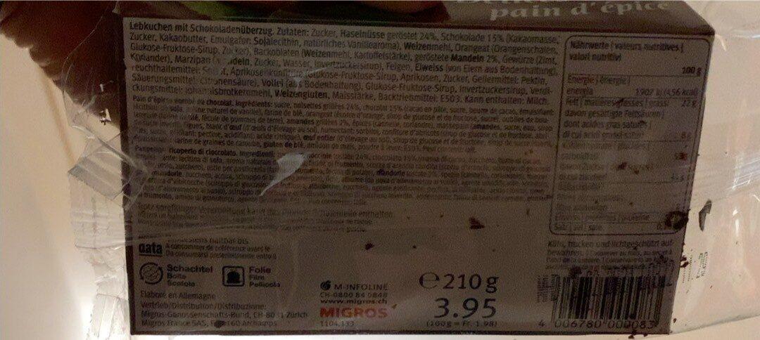 Delices de pain d'épice - Voedingswaarden - fr