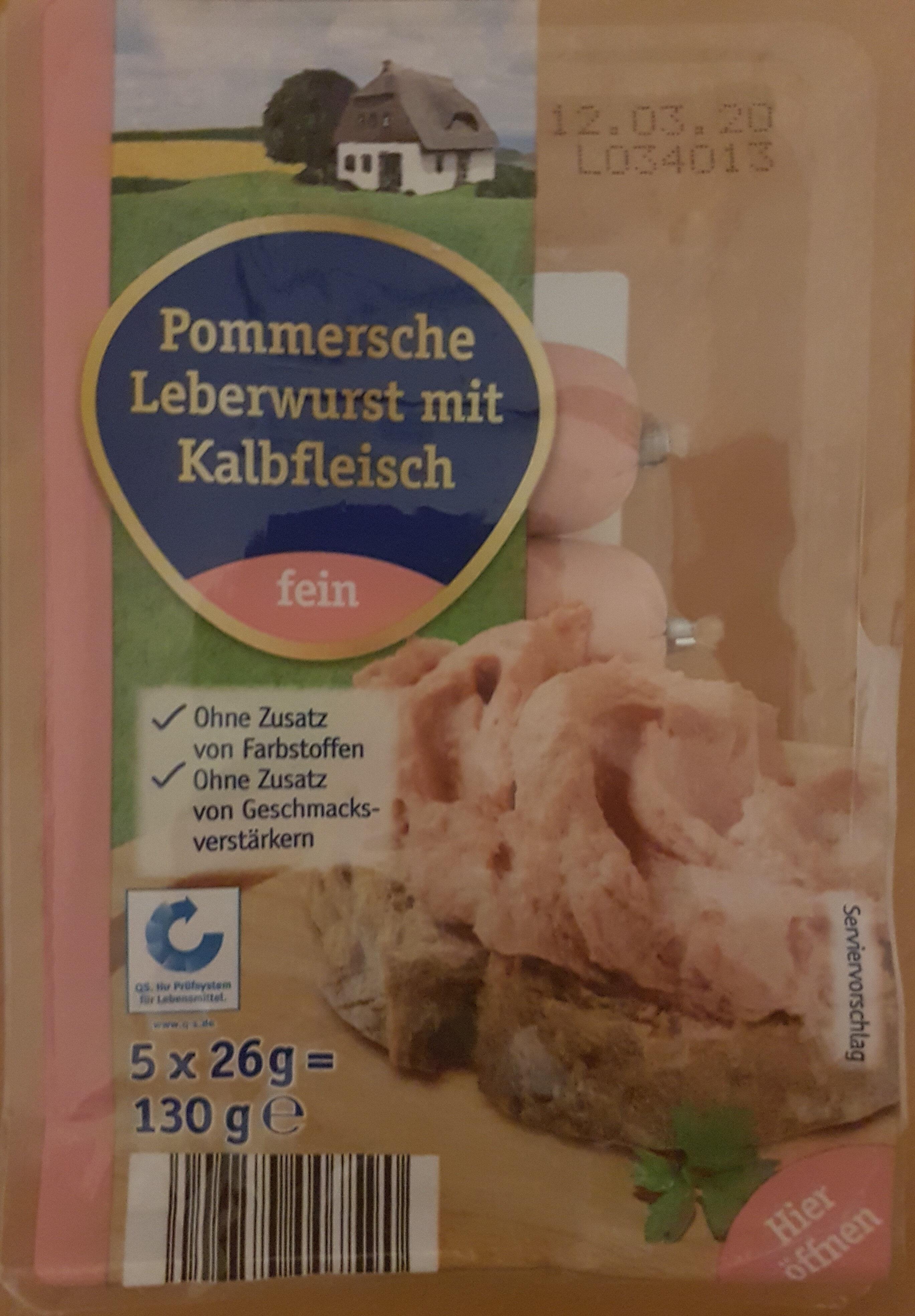 Pommersche Leberwurst mit Kalbfleisch - Product - de
