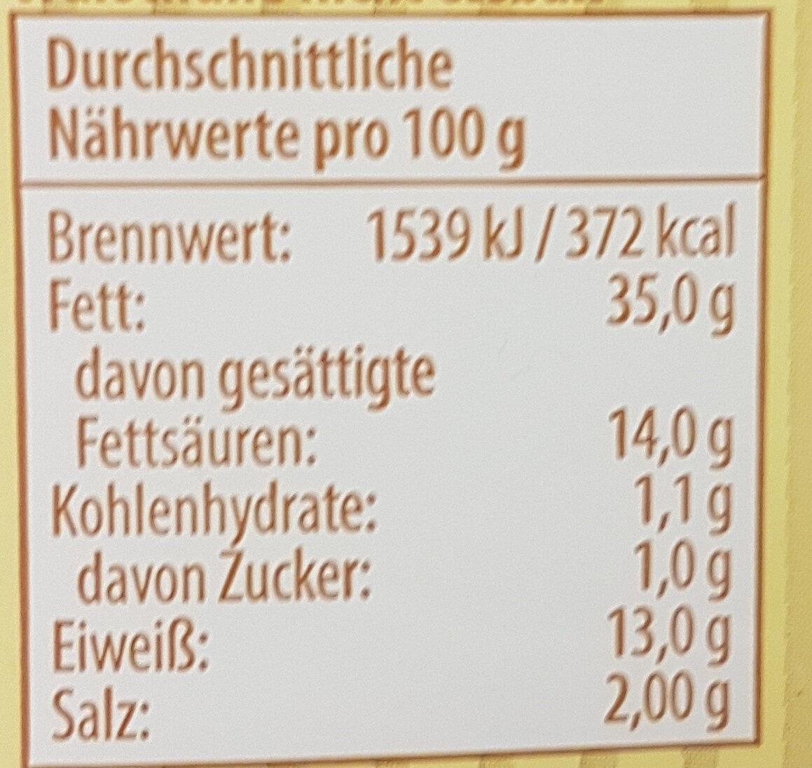 Pommersche Leberwurst mit Kalbfleisch - Nutrition facts - de