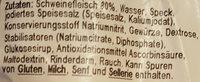Fleischwurst halber Ring - Inhaltsstoffe