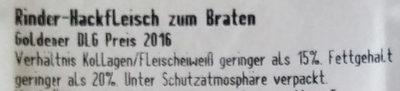 Rinder-Hackfleisch - Ingredients