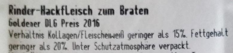Rinder-Hackfleisch - Ingrediënten - de