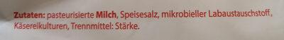 frija Mozzarella, gerieben - Zutaten - de