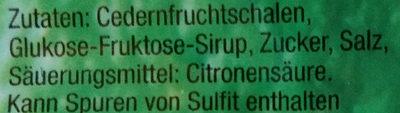 Citronat mediterraneo gewürfelt - Inhaltsstoffe