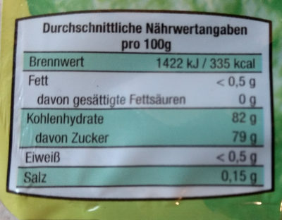 Citronat mediterraneo gewürfelt - Nährwertangaben