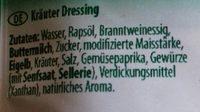 Salatliebe kraüter dressing - Ingredients