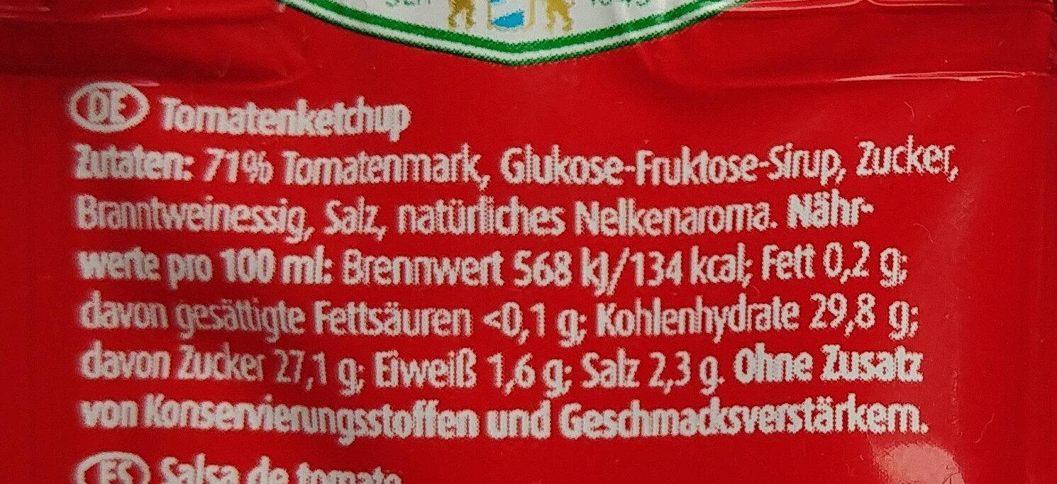 Tomaten Ketchup - Ingredientes - de