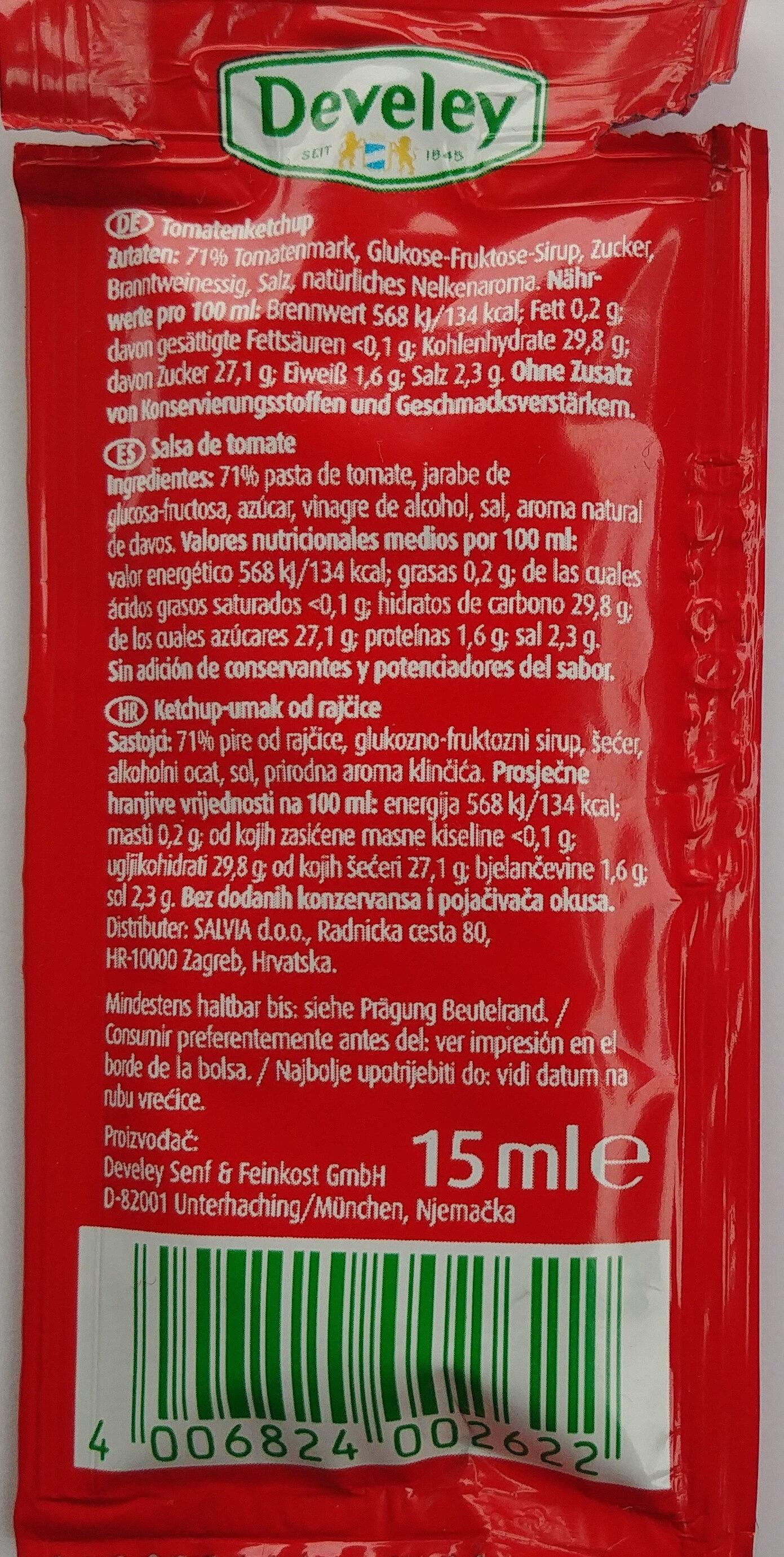 Tomaten Ketchup - Información nutricional - de
