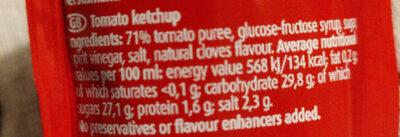 Tomaten Ketchup - Ingrédients - fr