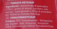 Tomato ketchup - Ingredienti - it