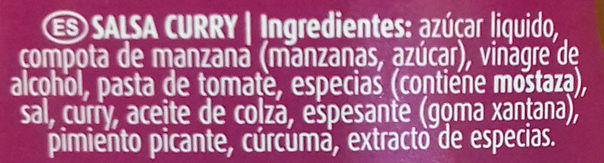 Salsa curry - Ingredients - es