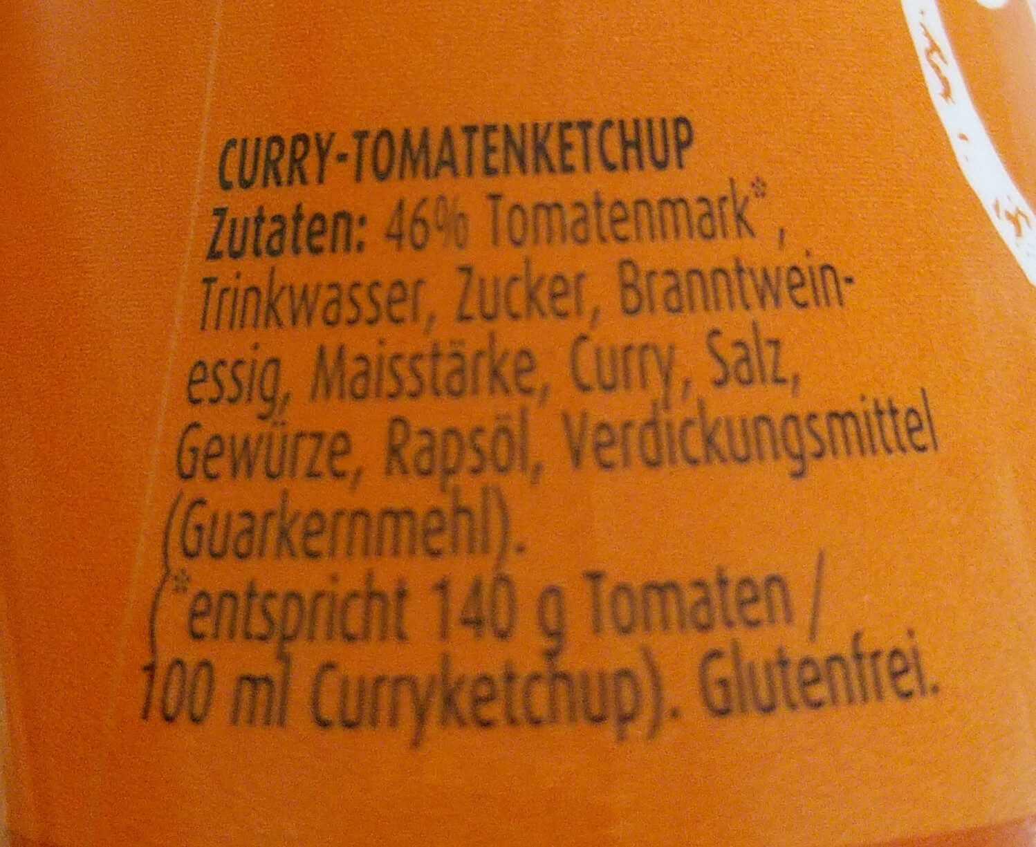 Ketchup Curry - Ingrédients - de