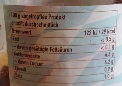Rote Bete in Scheiben - Ingrédients